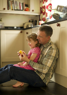 Father & Daughter Enjoying Non-Toxic Kitchen